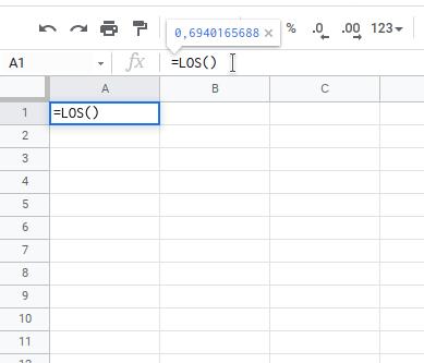 Generowanie (losowanie) liczb w arkuszu kalkulacyjnym - krok 1